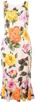Dolce & Gabbana floral-print dress - women - Silk/Spandex/Elastane/Viscose - 42