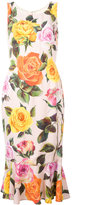 Dolce & Gabbana floral-print dress - women - Silk/Spandex/Elastane/Viscose - 44