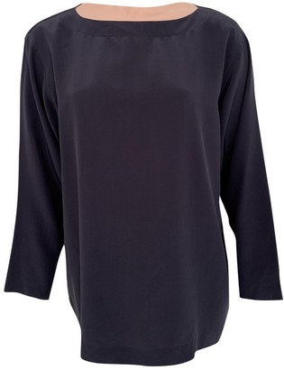 Issey Miyake Navy Silk Top for Women Vintage