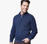 Johnston & Murphy Indigo Quarter-Zip Sweater