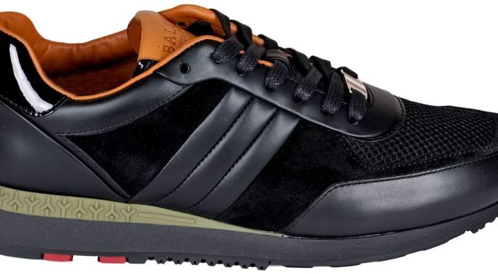 Bally Men's Leather Sneakers In Black