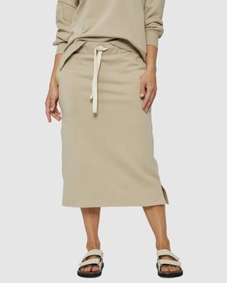 Ceres Life - Women's Neutrals Midi Skirts - Organic Fleece Midi Tube Skirt - Size XS at The Iconic