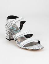 Sam Edelman Fisher Womens White & Black Heels