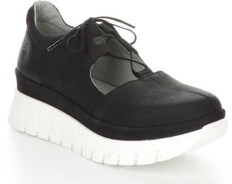 Fly London Nubuck Rubber Heel Shoes - Bump