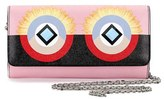Fendi Women's Monster Calfskin Leather Flap Wallet On A Chain - Pink