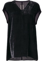 Rick Owens V-neck top - women - Silk/Viscose - 42
