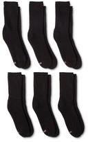 Hanes Women's 6-Pack Premium Crew Cushion Socks 709/6