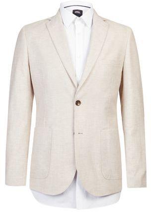 Burton Mens Stone Linen Blend Blazer