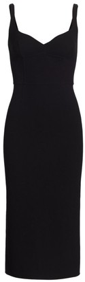 Marc Jacobs Double Faced Wool Sleeveless Fitted Sheath Dress