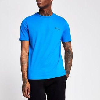 River Island Prolific bright blue slim fit T-shirt