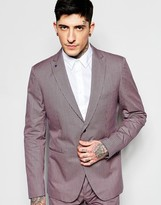 Sisley Slim Fit Suit Jacket In Micro Check
