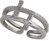 Giani Bernini Cubic Zirconia Double Cross Ring in Sterling Silver, Created for Macy's