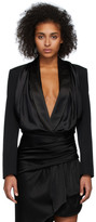 Alexander Wang Black Tuxedo Jacket Bodysuit