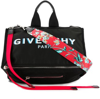 Givenchy Pandora logo print messenger bag