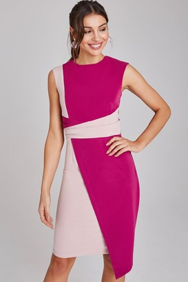 Paper Dolls Devon Magenta And Blush Colour Block Dress