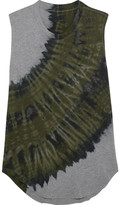 Raquel Allegra Tie-dyed Cotton-blend Jersey Tank