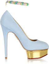 Charlotte Olympia Sweet Dolly suede pumps