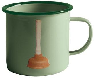 Seletti Plunger Printed Metal Mug