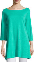 Eileen Fisher 3/4-Sleeve Organic Linen Tunic