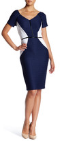NUE by Shani Shirred Colorblock Dress