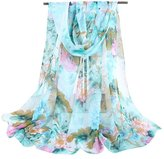 Cityelf Silk Patterned Soft Wrap Shawl Fashion 62x19 Scarf WJW0011