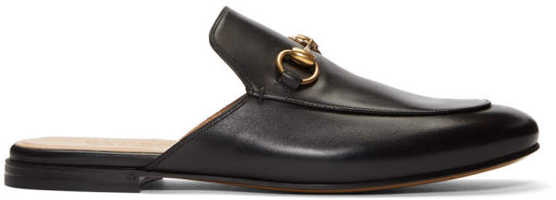 Gucci Black Kings Slip-On Loafers