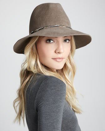 Eugenia Kim Farrah Angora Hat, Brown