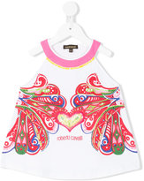 Roberto Cavalli embroidered hear T-shirt - kids - Cotton/Spandex/Elastane - 4 yrs