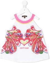 Roberto Cavalli embroidered hear T-shirt - kids - Cotton/Spandex/Elastane - 8 yrs