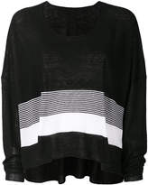 Rundholz Black Label flared colour-block sweater
