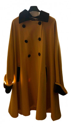 Non Signã© / Unsigned Oversize Yellow Wool Coats