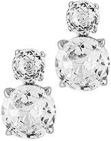 Nadri Double CZ Clip Earrings