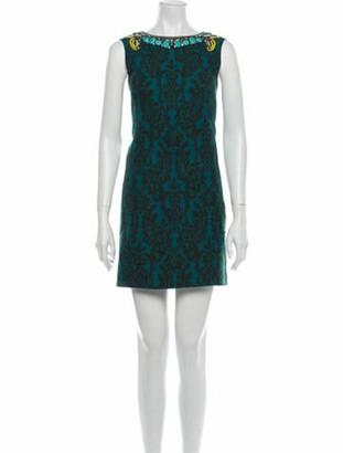 Matthew Williamson Printed Mini Dress Black