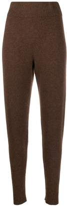 The Elder Statesman cashmere knitted track pants