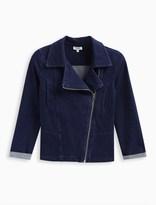 Splendid Girl Indigo Denim Moto Jacket