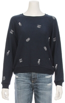 ALL THINGS FABULOUS Lucky Today Embroidered Sweatshirt