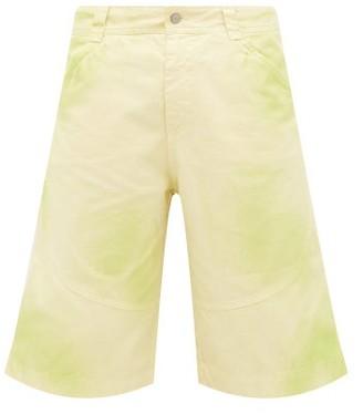 Jacquemus Tie-dye Cotton-canvas Shorts - Light Green