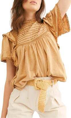 Free People Le Femme Ruffled Babydoll Top