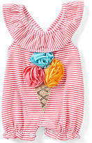 Mud Pie Baby Girls Newborn-12 Months Striped Ice Cream Shortall