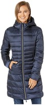 Save The Duck Iris 9 Hooded Puffer Coat (Blue/Black) Women's Clothing