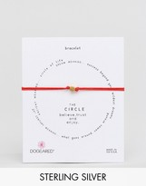Dogeared Gold Plated The Circle Adjustable Red Cord Bracelet