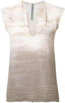 Raquel Allegra tie-dye print top - women - Cotton - 0