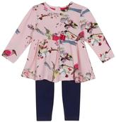 Ted Baker Baby Girls Floral Print Tunic & Leggings Outfit