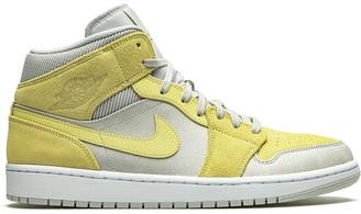 """Jordan Air 1 Mid """"Grey fog/Lemon wash"""" sneakers"""