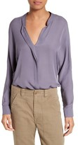 Vince Women's Sheer Silk Blouse