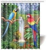 bitt Happy More Custom The Parrots Bathroom Waterproof Fabric 60x72 inch Shower Curtain