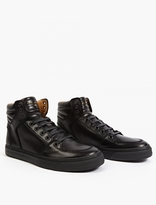 Marc Jacobs Black Leather Hi-Top Sneakers