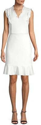 Karl Lagerfeld Paris Ruffle-Trimmed Sheath Dress