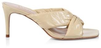 Schutz Heloa Padded Patent Leather Mules