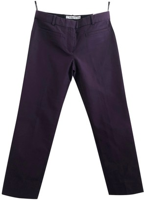 Christian Dior Purple Cotton Trousers